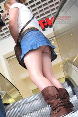 Deshawn recommend best of upskirt sexy escalator