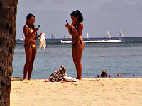 Though this female in the sexy bikini was spied in rather a far distance the video is still exciting so dont hesitate to watch it