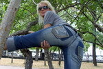 Jeans outdoors