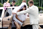 Exclusive bride upskirt