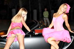 Pink girls upskirts