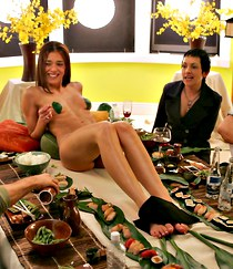 Adrianne Curry hot nudist fun