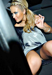 Alex Curran lets enjoy upskirt view