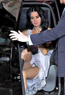 Katy Perry boasts panty upskirt