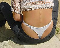 Hidden camera thong