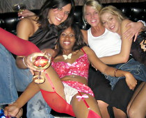 Partying girl upskirt white