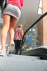 escalator up skirt