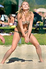 0809-a-hot-bikini-girl-is-having-fun-on-the-green-lawn