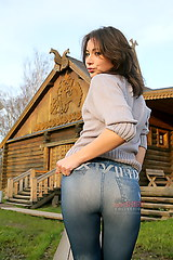 0197 Photos of jeans chick Olga