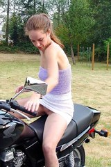 Vikki the hot bike rider